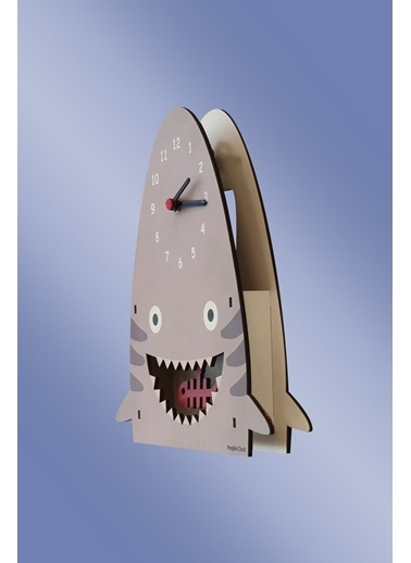 Peoples Clock Köpekbalığı Sallanan Sarkaçlı Çocuk Odası Duvar Saati Renkli